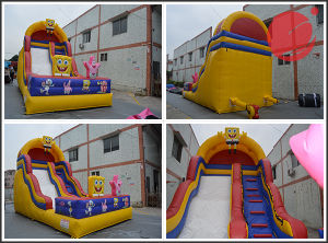 Cat Kids Jumping Castle Inflatable Slide (T4-232) pictures & photos