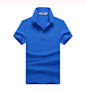 Mens Solid Color Slim Fit Short Sleeve Cotton Polo T Shirts Wholesale pictures & photos