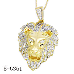 Hip Hop Pendant 925 Silver Lions Heads Shape Men′s Charm pictures & photos