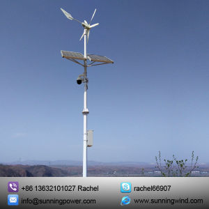 Affordable Wind Solar Hybrid System for CCTV pictures & photos