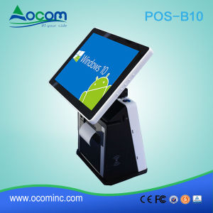POS-B10 Supermarket Touch POS Terminal Machine with Customer Display pictures & photos