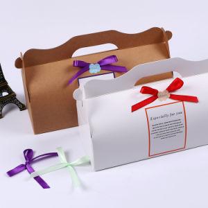 Retail Pretty Ribbon Plain White Cake Boxes Window pictures & photos