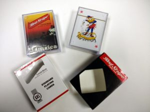 Red Stripe Lager Beer Poker Playing Cards in Plastic Case pictures & photos