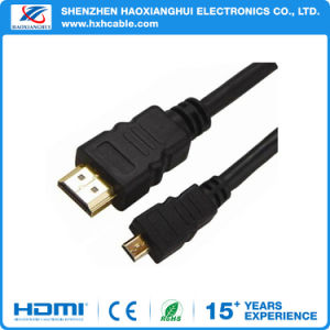 HDMI to Micro HDMI Cable V1.4 Gold-Plating Adapter Converter pictures & photos