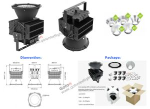 5 Years Warranty 25 60 90 Degree IP65 Waterproof Interior Lighting 500W 500 Watt LED High Bay Light pictures & photos