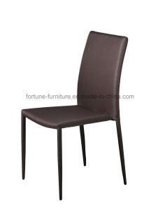 Fabric Upholstered Brown Dining Chair with Metel Leg (B807)