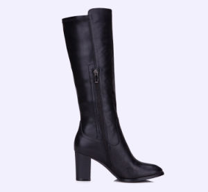 2017 Comfort Casual Lady Leather Shoes High Heels Women Boots pictures & photos