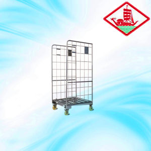Best Selling Folding Movable Roll Container pictures & photos