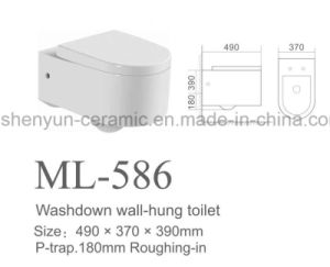 Ceramic Wall Hanging Toilet Bowl Washdown Wc (ML-586) pictures & photos