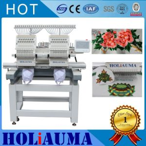 Double Two 2 Heads Commercial 15 Needles Computerized Embroidery Machine Tajima Type High Speed Sewing Machine Cheap Price Flat/Cap Embroidery Machine pictures & photos