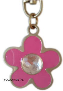 Custom Keychain with Follow Logo, Acrylic Stones, for Ornament pictures & photos
