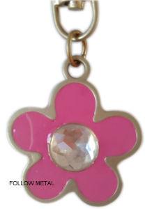Custom Keychain with Follow Logo, Acrylic Stones, for Ornament