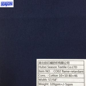 Cotton 10*10 80*46 320GSM Flame Retardant Safety Clothes Cotton Fabric for Working Textile pictures & photos