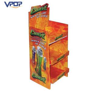 Orange Color Printed Corrugated 3 Tiler Display Stand for Lighter