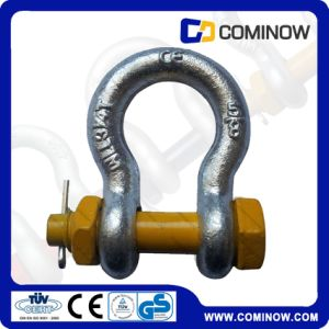 G2130 Us Type Carbon Steel Anchor Shackle with Safety Bolt / Drop Forged Bow Shackle Galvanized pictures & photos