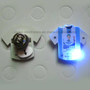 Custom Blinking LED Flashing Pin Badge with Logo Printed (3569) pictures & photos