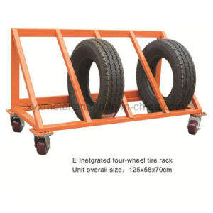 Tire Warehouse Cart Wheels Tyre Display Roll Pallet Truck Hand Trolley pictures & photos