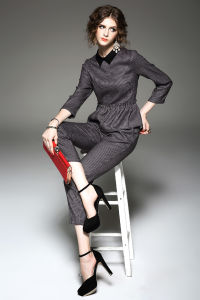 Customization Women′s Ol Long-Sleeved Pantsuit Fashion Career Pant Suit Set pictures & photos