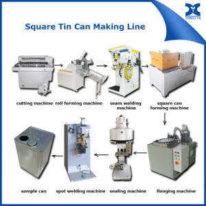 18L Square Tin Can Body Forming Making Machine pictures & photos