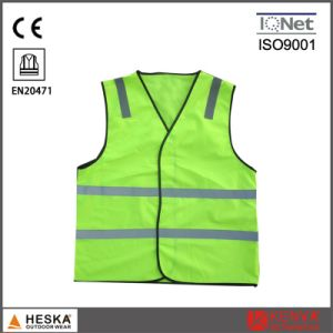 High Visible Traffic Reflective Mens Sleeveless Safety Vest pictures & photos