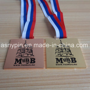 Custom Rectangle Soft Enamel Boxing Medals Souvenir pictures & photos