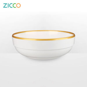 "Melamine 8"" Golden Rim Round Bowl pictures & photos"