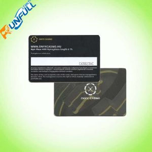 UV Coating Black Printing Business Card PVC Card pictures & photos