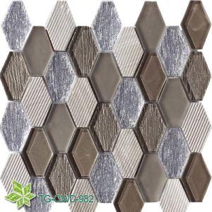 White PVC Reflective Mosaic Tiles (TG-OWD-977) pictures & photos