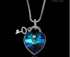 43357 Fashion Heart Design Lock Crystals From Swarovski Jewelry Pendant Necklace pictures & photos