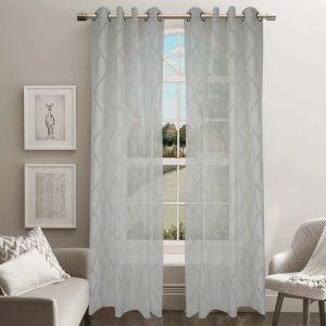 Jacquard Sheer Grommet Panel Window Curtain (HR14WT088) pictures & photos