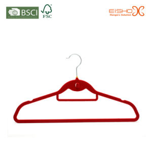 Beauty Red Color Display Style Velvet Clothes Hanger pictures & photos