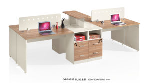 Modern Furniture Office Staff Computer Desk with Partition pictures & photos