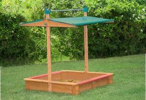 Square Wooden Sandbox Outdoor Children Wooden Sandpit (02)