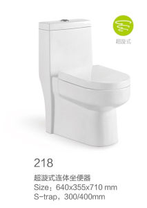218 Siphonic One-Piece Toilet New Model pictures & photos