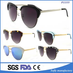 Wholesale Promotion Half-Frame Sunglasses Authentic pictures & photos
