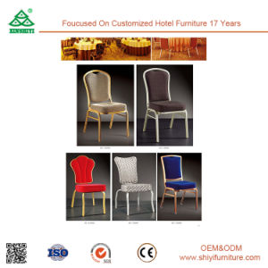 Faux Leather Stainless Steel Dining Chair with Back pictures & photos