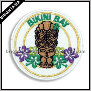 Golden Metallic Thread Embroidery Badge for All Kinds of Garment (BYH-101152) pictures & photos