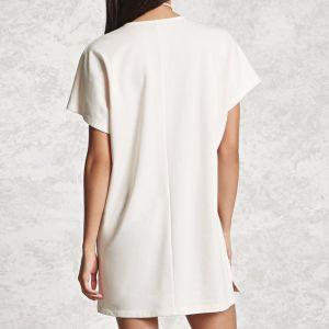 Ladies Fashion Chiffon Short Sleeves V-Neck Bandage Dress pictures & photos