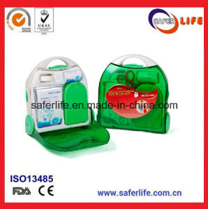 2017 Transparent Empty First Aid Box Wall Mount Novelty Medium Portable ABS First Aid Box with Compartment for School FDA Ce ISO pictures & photos