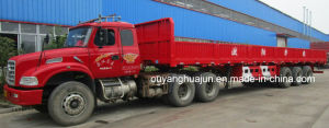 12.5 M Flatbed Semitrailer Semitrailer with Side Wall pictures & photos