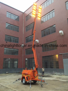 Kubota Four Folded Hydraulic DC Emergency LED Lighting Tower pictures & photos