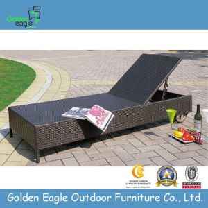 New Trendy Cane Rattan Outdoor Leisure Sun Bed