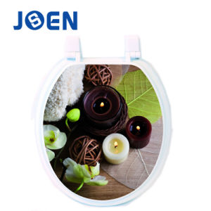 Printing Design MDF Moulded Wood Toilet Seat pictures & photos