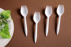 White Color Plastic Spork for Soup and Cake pictures & photos
