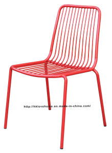 Replica Modern Dining Stackable Side Metal Wire Chair pictures & photos