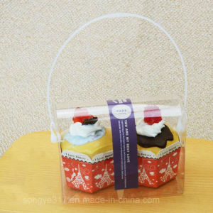 Pet Clear Dorayaki & Cake Plastic Box with Handle pictures & photos