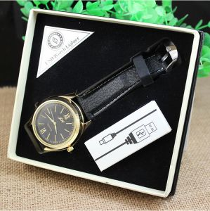 USB Electronic Rechargeable Watch Lighter Cigarette Smoking Lighter pictures & photos