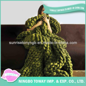 Knitted Blanket DIY Merino Wool Super Chunky Yarn pictures & photos