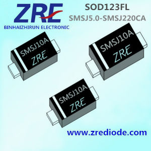 200W Surface Mount Tvs Smsj5.0 Thru Smsj220ca Diode SOD123FL Package pictures & photos