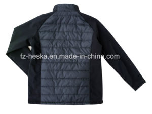 New Outdoor Winter Softshell Mens Black Padding Jacket pictures & photos